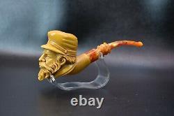Civil War Soldier Pipe New Block Meerschaum Handmade From Turkey W Case#768