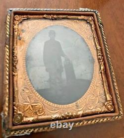 Civil War Soldier Tin Type Photo