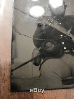 Civil War Soldier Tin Type Photo Irish Brigade Musician's Sword