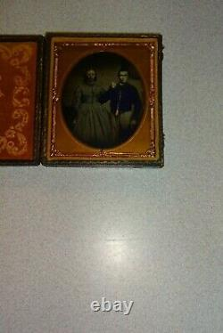 Civil War Soldier & Wife 1/6 Ambrotype Full Case