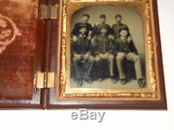 Civil War Soldiers 1/6 plate Tintype & Thermoplastic Case