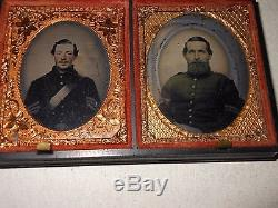 Civil War Soldiers (4) 1/9 Plate Ambrotype Thermoplastic Case
