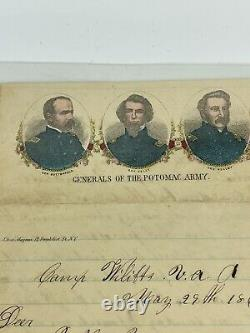 Civil War Soldiers Letter 1863 24th NJ Vol Inf Picket Duty, Rebels & Wounded