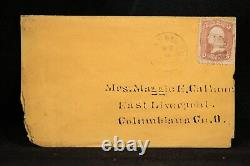Civil War USS VICTORY 1860s Cover Soldiers Letter Written On Ship off Vicksburg