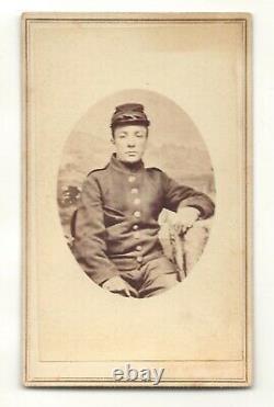 Civil War Union Army soldier, uniform, kepi, Poughkeepsie, N. Y. CDV photo #2