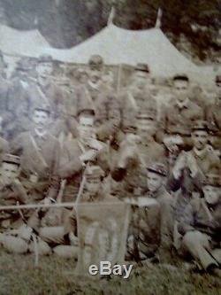 Civil War Union soldiers original cabinet card large size circa 1860's