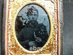 Civil War boy soldier NHV New Hampshire Volunteers 1/9th plate Ambrotype photo