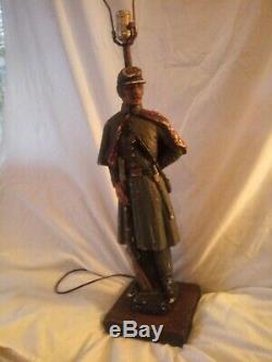 Civil war soldier-rebel/Confederate lamp