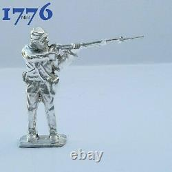 Civil war soldiers set of 5 Hand Poured Sterling Silver