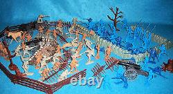 Classic Toy soldiers American Civil War playset with Marx +CTS parts