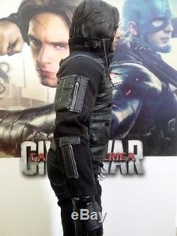 Complete Hot Toys Captain America Civil War Winter Soldier 1/6 Scale Figure