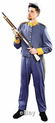 Confederate Soldier Uniform Adult Mens Costume Civil War South Grey Re-enactment