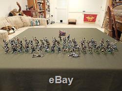 Conte 54mm 1/32 plastic Civil War Soldiers set of 51