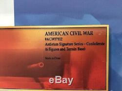Conte ACW57112 American Civil War Antietam Confederate 6 Figures & Terrain Base