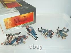 Conte Acw57171 Confederate Infantry Laid Dead American CIVIL War Toy Soldier Set