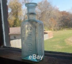 Crude CIVIL War Soldier's Paraffine Gun Oil Bottle Drippy Lip Dug In 1860 Privy