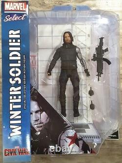 Diamond Select Captain America Civil War Winter Soldier Select Action Figure