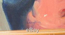 E. Laughlin Original Oil On Canvas CIVIL War Soldier Painting