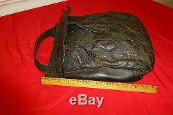 EXC CIVIL WAR ERA SOLDIER'S LEATHER HAVERSACK With ROLLER BUCKLES PROBABLE CS