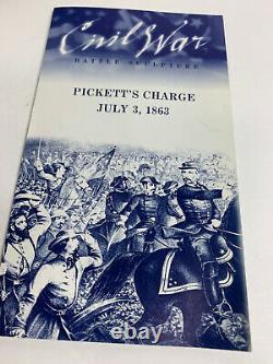 Franklin Mint Picketts Charge Civil War 1863 Display Soldiers