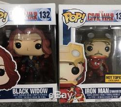 Funko Marvel Civil War Captain America Lot x 10 Falcon Winter Soldier Iron Man