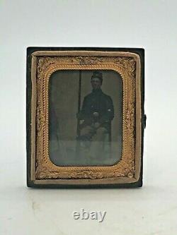 Genuin Authentic CIVIL War Soldier Tintype Rare & Authentic