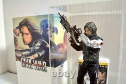HOT TOYS MMS351 1/6 Captain America 3 Civil War Winter Soldier Bucky MINT RARE