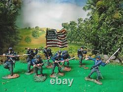 Hand Painted Paragon, Conte And Marx CIVIL War Soldiers