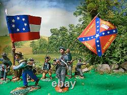 Hand Painted Tssd And Conte CIVIL War Soldiers