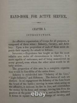 Hand-book For Active Service 1861 CIVIL War Manual For Volunteer Soldiers
