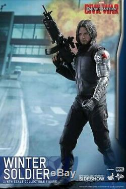 Hot Toys 1/6 Scale Captain AmericaCivil War Winter Soldier MMS351 MIB