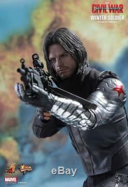Hot Toys 1/6 WINTER SOLDIER FIGURE MMS351 Captain America 3 Civil War Bucky NIB