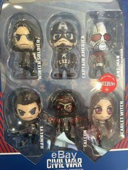 Hot Toys Civil War Captain America Ant-Man Winter Soldier Falcon Hawkeye Cosbaby