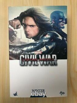 Hot Toys MMS 351 Captain America 3 Civil War Winter Soldier Bucky Sebastian USED