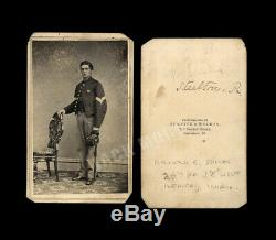 ID'd Civil War Soldier 1st LT Arnold Spink 28th PA Infantry Wounded in Action
