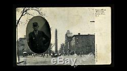 ID'd Civil War Vet Soldier Photo Tintype on Postcard GAR Gettysburg  Reunion