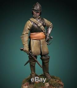 Ironside Cavalry English Civil War 54mm 1/32 Tin Painted Toy Soldier Museum