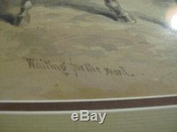 JOHN R. CHAPIN Antique Original WATERCOLOR Painting of CIVIL WAR Soldier1884