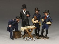 King & Country CIVIL War Cw102 Union Abraham Lincoln & His Generals Mib