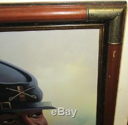 L. Mason African American CIVIL War Soldier Original Oil On Canvas Painting