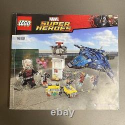 LEGO 76051 Marvel Super Hero Airport Battle 100% Complete Civil War Ant Man Iron