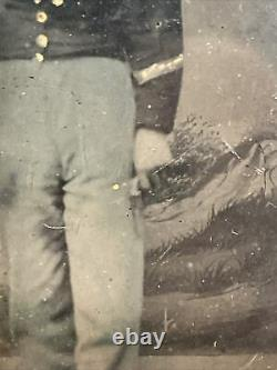 Lot Of 3 Civil War Armed Soldier Tintype / Union / Confederate / Hair