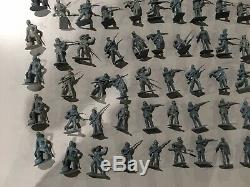 Lot of Civil War Confederate Army Men 181 Pieces Buildings, Cannons, Horses+