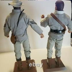 Lots of 2 SOLDIERS OF THE WORLD 12 Action Figure Private Civil War Confederate