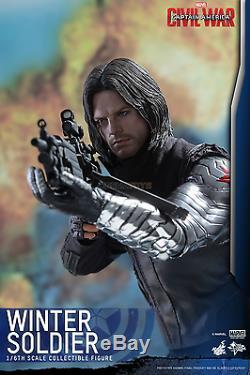 MARVEL Captain America Civil War WINTER SOLDIER Action Figure Hot Toys MMS351