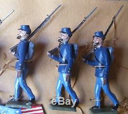 MIGNOT 54mm LEAD SOLDIER US CIVIL WAR UNION MARCHING