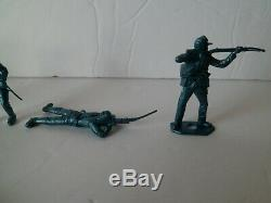 MPC Recast American Civil War Toy Soldier Figures 101 Pieces Blue Army Men