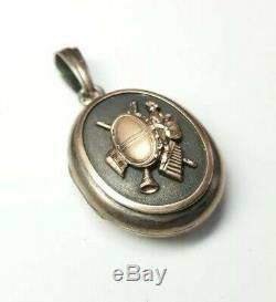 MUSEUM QUALITY CIVIL WAR GOLD FILLED STERLING DRUMMER SOLDIER LOCKET WithPICTURES