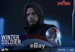 Marvel Civil War Winter Soldier 1/6 Figura de Acción 12 Hot Toys Mms351