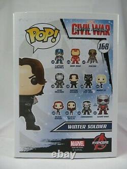 Marvel Funko Pop Winter Soldier Captain America Civil War No. 168